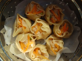 Siomay — steamed prawn dumpling