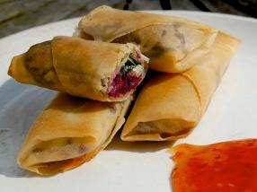 Mediterranean-style spring rolls