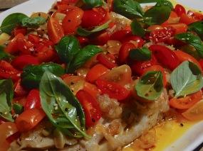 Steamed basa fish with Balinese salsa