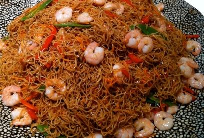 Javanese noodles with prawns