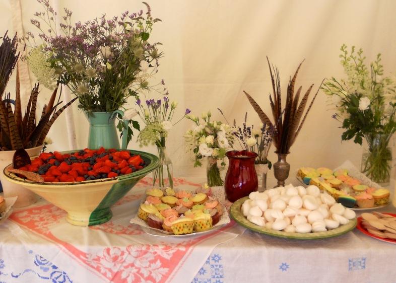 Dessert buffet at Toria's wedding