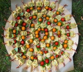 Tortellini brochettes