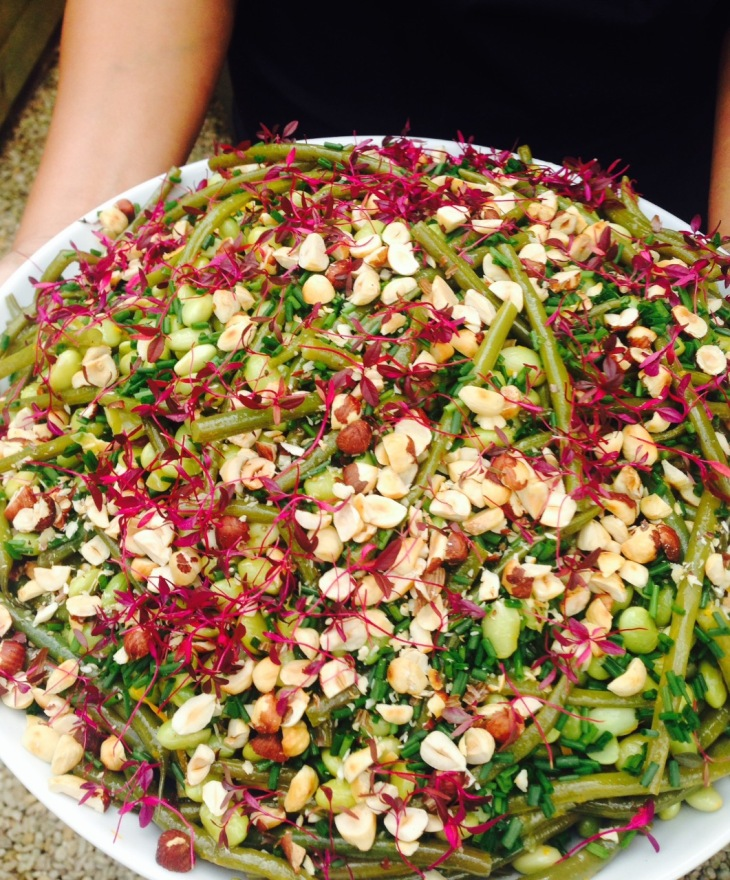 Mixed beans and hazelnuts