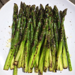 Griddled asparagus