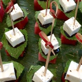 Watermelon, mint, & feta cheese