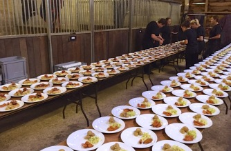 Plating up for 250 guests
