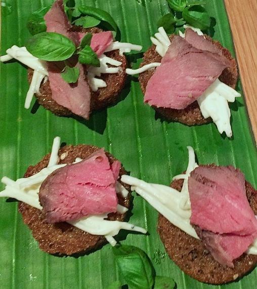Rare roast beef and celeriac remoulade on rye
