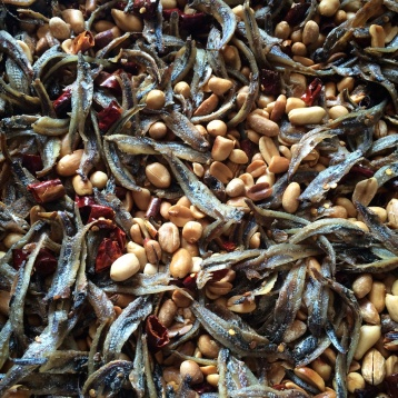 Tiny salted fish, peanuts & dried red chilies
