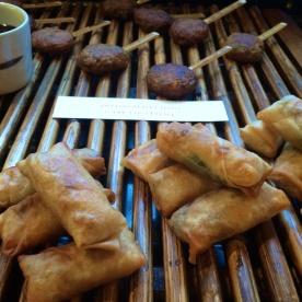 Crispy, golden spring rolls & Thai fish cakes