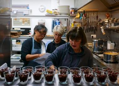 The kitchen at Sparks Yard, Arundel